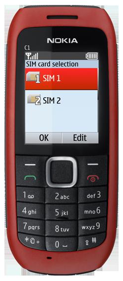 Nokia C1-00_Front