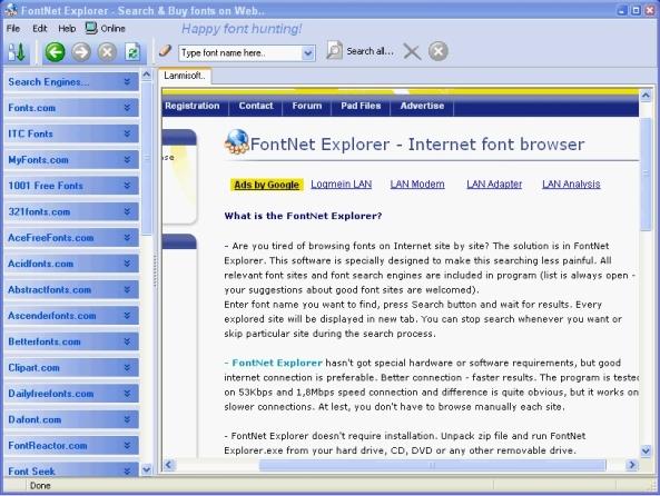 FontNet-Explorer