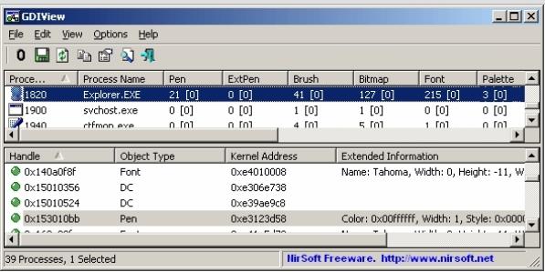 GDIView Screenshot