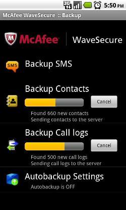 McAfee WaveSecure-screenshots