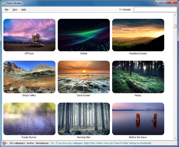 Astounding Desktop Wallpaper Manager Software Download Color Desker Download Free Architecture Designs Scobabritishbridgeorg