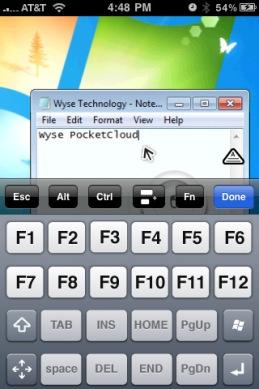 Wyse PocketCloud Screenshot1